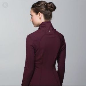 Lululemon Bhakti Yoga Jacket Sz 8 Bordeaux